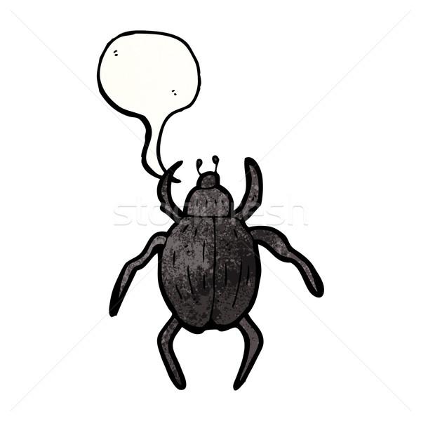 Desenho animado besouro retro desenho inseto bicho Foto stock © lineartestpilot