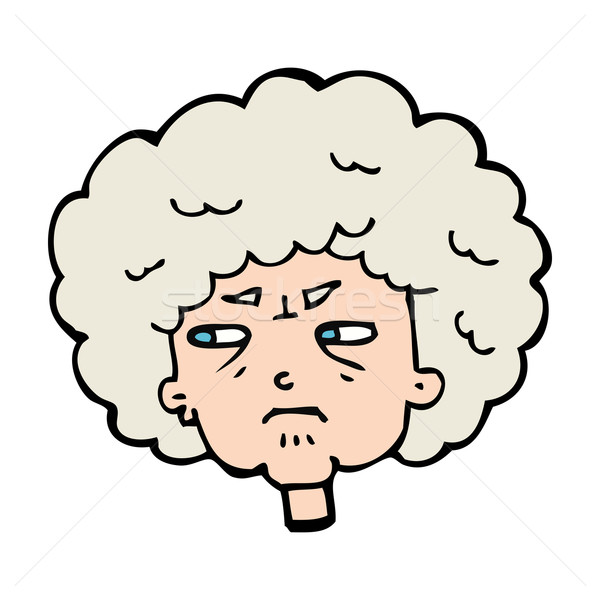 cartoon bitter old woman Stock photo © lineartestpilot