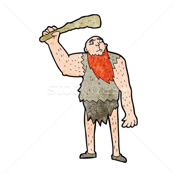 cartoon neanderthal Stock photo © lineartestpilot