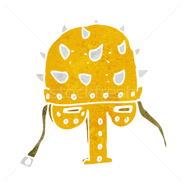 cartoon spiked helmet Stock photo © lineartestpilot
