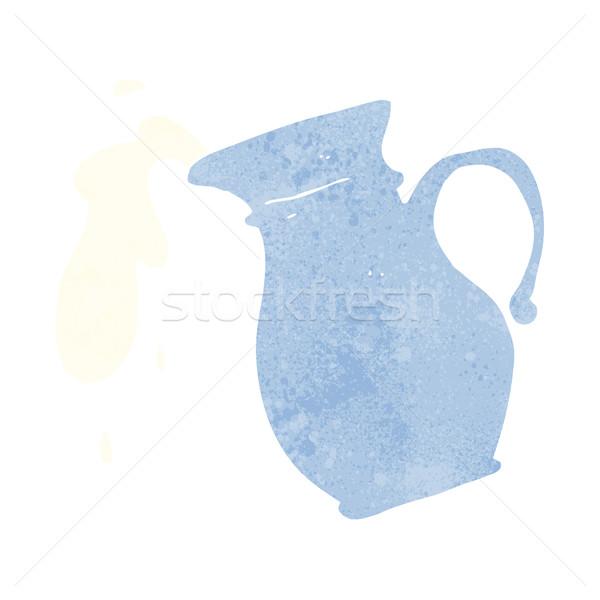 Rajz tejesflakon kéz terv tej őrült Stock fotó © lineartestpilot