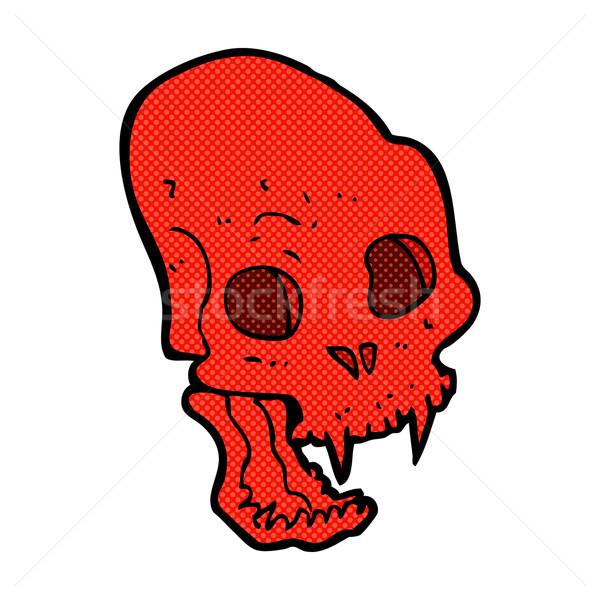 comic cartoon spooky vampire skull Stock photo © lineartestpilot