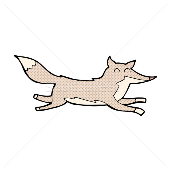 комического Cartoon работает волка ретро Сток-фото © lineartestpilot