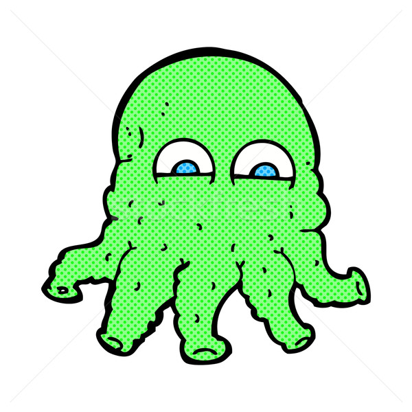 comic cartoon alien squid face Stock photo © lineartestpilot