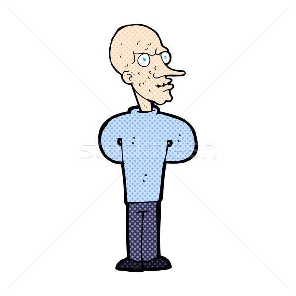 comic cartoon evil bald man Stock photo © lineartestpilot