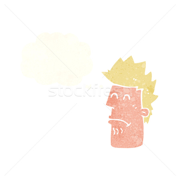 cartoon man feeling sick with thought bubble Stock photo © lineartestpilot