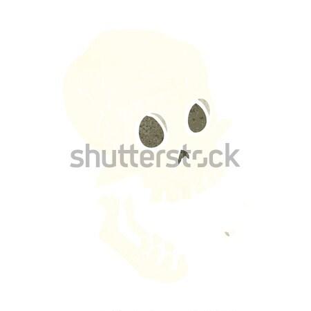 Cartoon cranio bolla di pensiero mano design Crazy Foto d'archivio © lineartestpilot