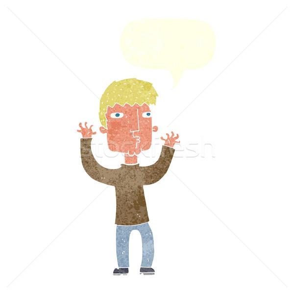 漫画 男 吹き出し 手 デザイン ストックフォト © lineartestpilot