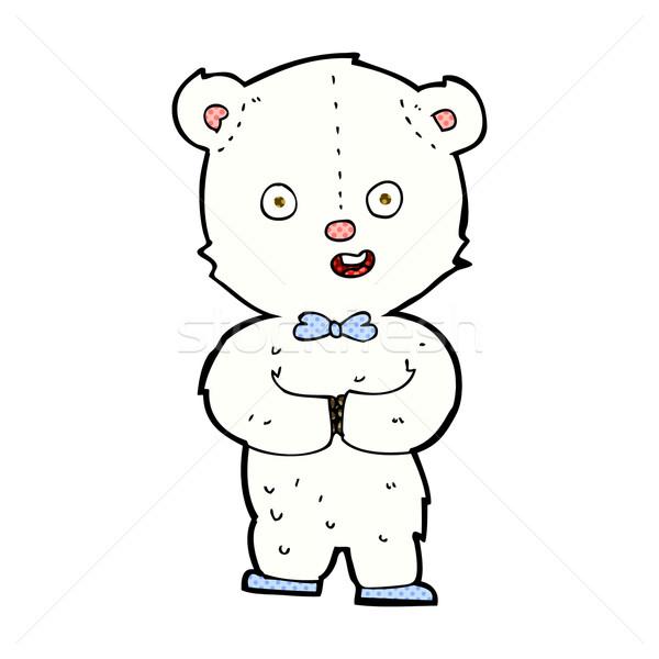 Fumetto cartoon teddy orso polare retro Foto d'archivio © lineartestpilot