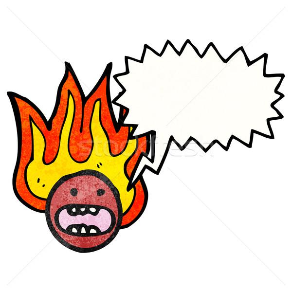 Vlammende gezicht symbool versie Stockfoto © lineartestpilot