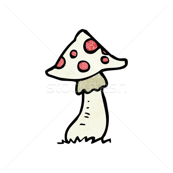 Desenho animado cogumelo venenoso textura mão feliz desenho Foto stock © lineartestpilot