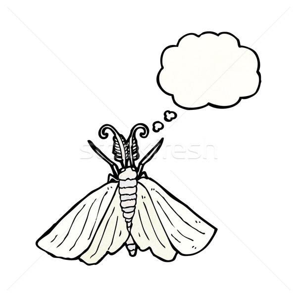 big white moth illustration Stock photo © lineartestpilot