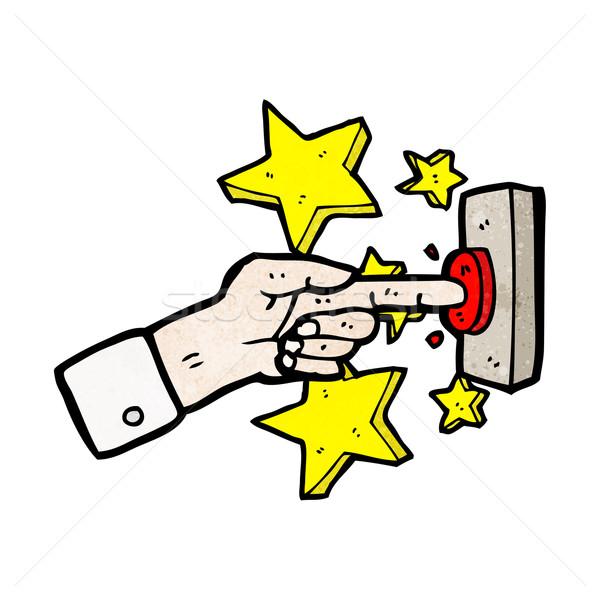Cartoon sonnette porte parler rétro dessin Photo stock © lineartestpilot