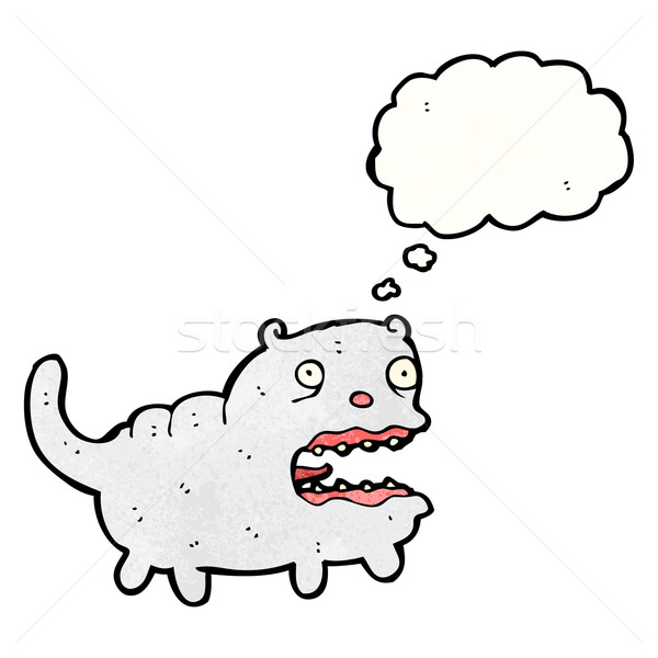 Cartoon уродливые кошки ретро шаре рисунок Сток-фото © lineartestpilot