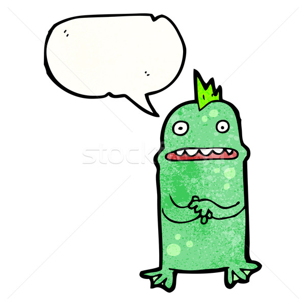 cartoon nervous swamp monster Stock photo © lineartestpilot