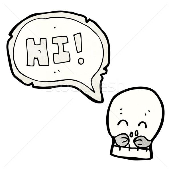 skull saying hi Stock photo © lineartestpilot