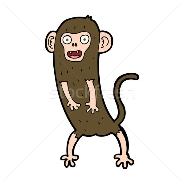 Cartoon crazy małpa projektu sztuki zwierząt Zdjęcia stock © lineartestpilot