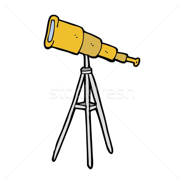 Cartoon telescoop ontwerp kunst retro grappig Stockfoto © lineartestpilot
