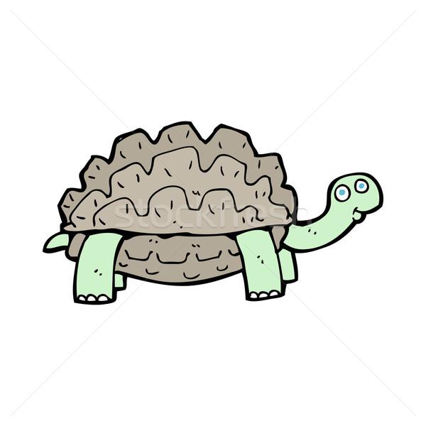Rajz teknősbéka kéz terv állatok őrült Stock fotó © lineartestpilot