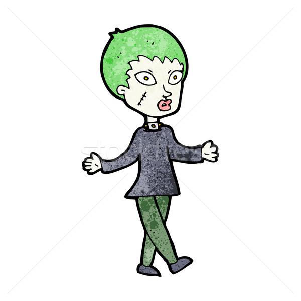 Desenho animado halloween zumbi mulher projeto arte Foto stock © lineartestpilot