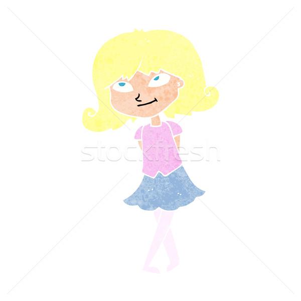 Cartoon mądry dziewczyna kobieta projektu sztuki Zdjęcia stock © lineartestpilot