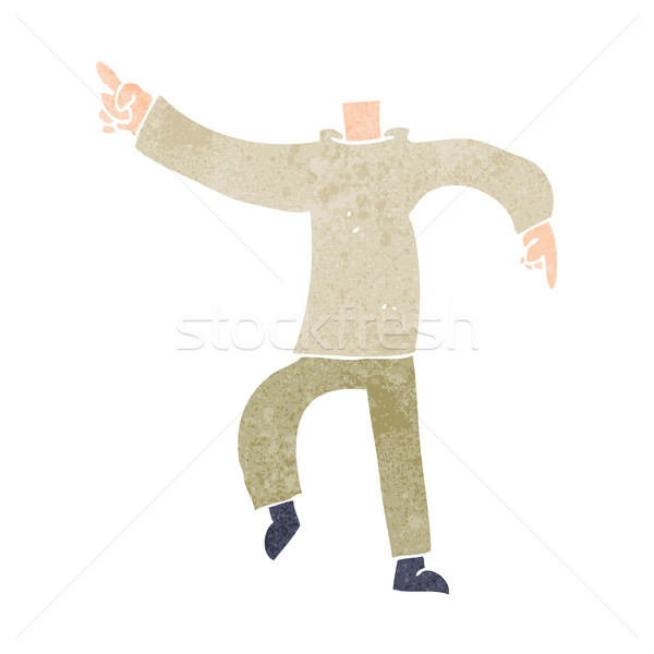 cartoon pointing body (mix and match cartoons or add own photo) Stock photo © lineartestpilot