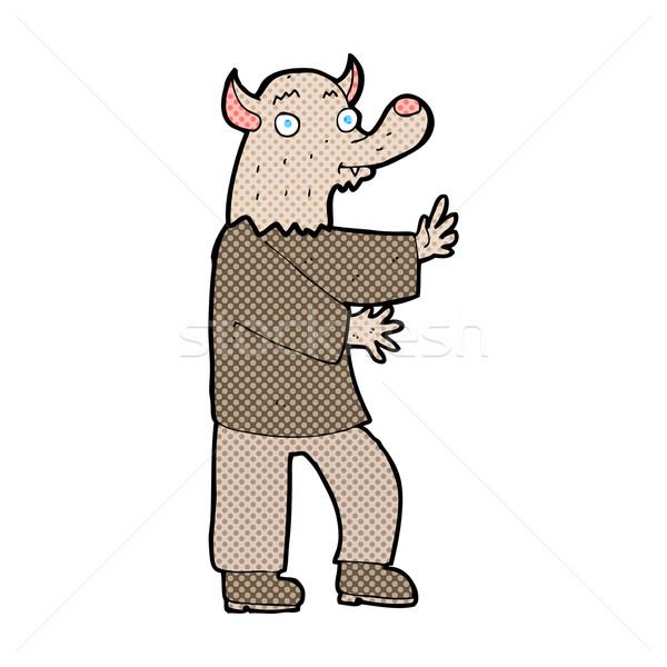 comic cartoon werewolf Stock photo © lineartestpilot