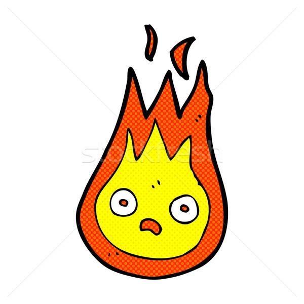 comic cartoon friendly fireball Stock photo © lineartestpilot