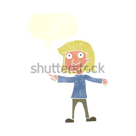 cartoon panicking boy with thought bubble Stock photo © lineartestpilot