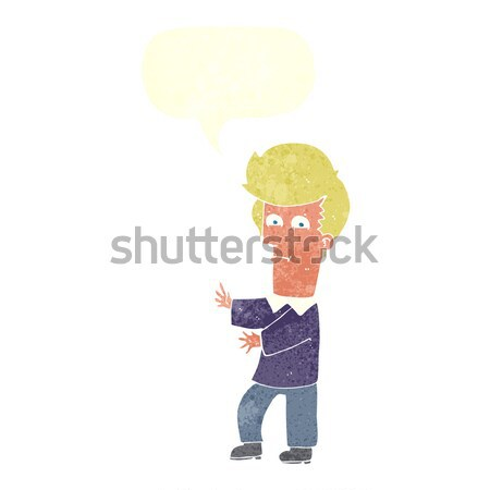 cartoon man gesturing wildly with speech bubble Stock photo © lineartestpilot