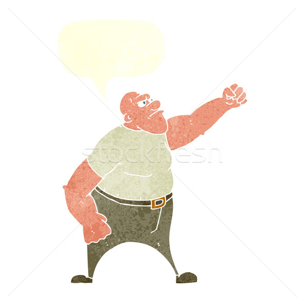 cartoon angry man with speech bubble Stock photo © lineartestpilot