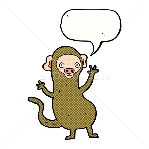 Cartoon małpa dymka strony projektu sztuki Zdjęcia stock © lineartestpilot