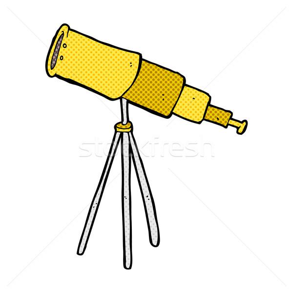 comic cartoon telescope Stock photo © lineartestpilot