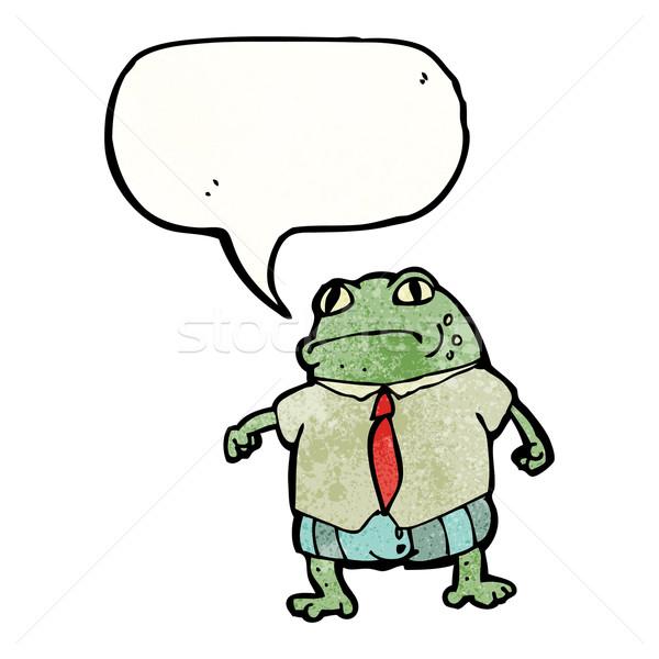 ヒキガエル 吹き出し 漫画 テクスチャ 手 幸せ ストックフォト © lineartestpilot