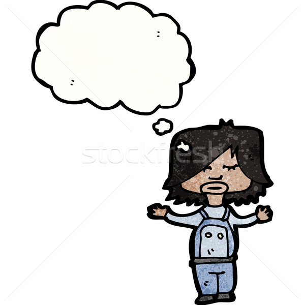 child with thought bubble Stock photo © lineartestpilot