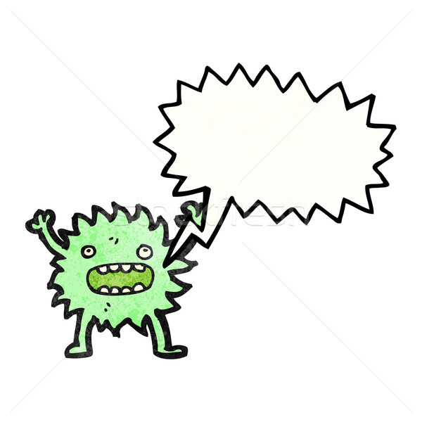 furry green creature with speech bubble Stock photo © lineartestpilot