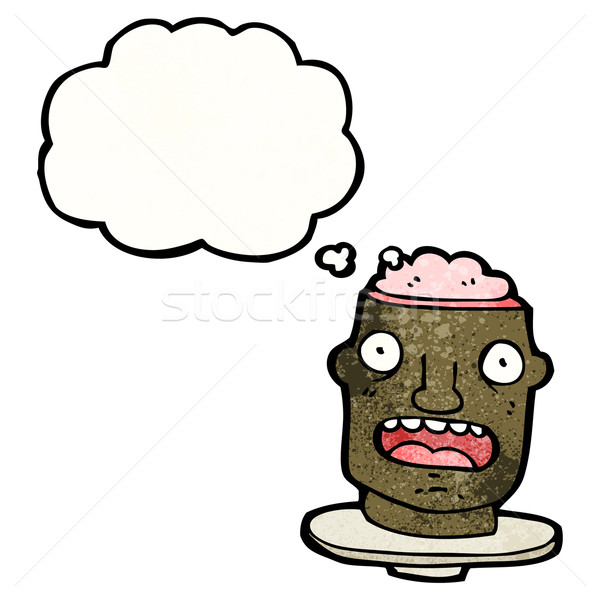 cartoon head  with exposed brain Stock photo © lineartestpilot