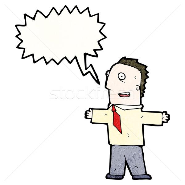 cartoon welcoming office man Stock photo © lineartestpilot