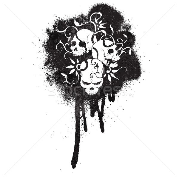 Cartoon pintura en aerosol graffiti retro dibujo aerosol Foto stock © lineartestpilot