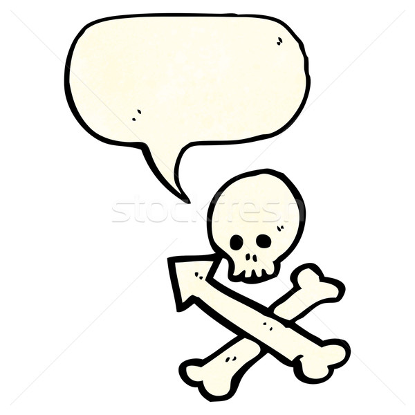 skull and crossbones arrow symbol Stock photo © lineartestpilot
