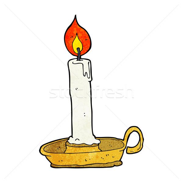 Desenho animado velho castiçal projeto arte lâmpada Foto stock © lineartestpilot