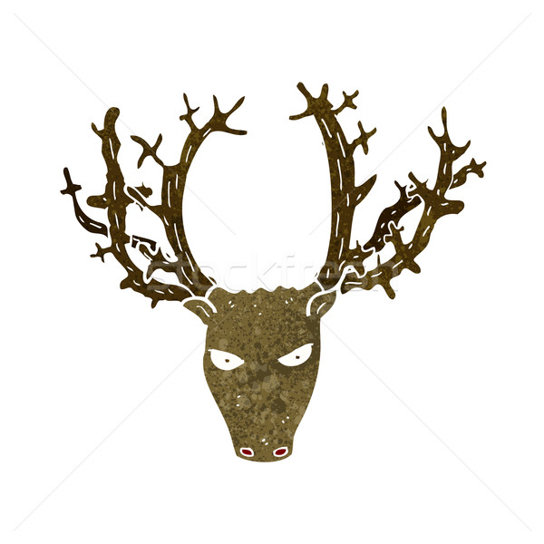 cartoon stag head Stock photo © lineartestpilot