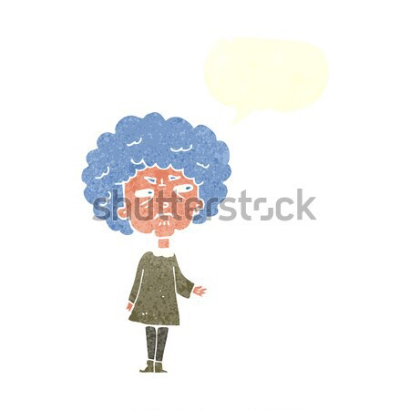 cartoon old lady with thought bubble Stock photo © lineartestpilot