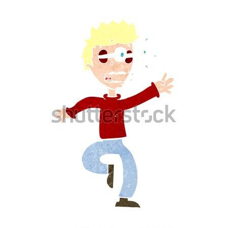 Karikatür acil adam düşünce balonu el dizayn Stok fotoğraf © lineartestpilot