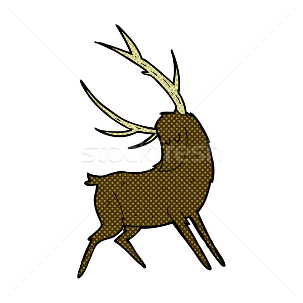 comic cartoon stag Stock photo © lineartestpilot