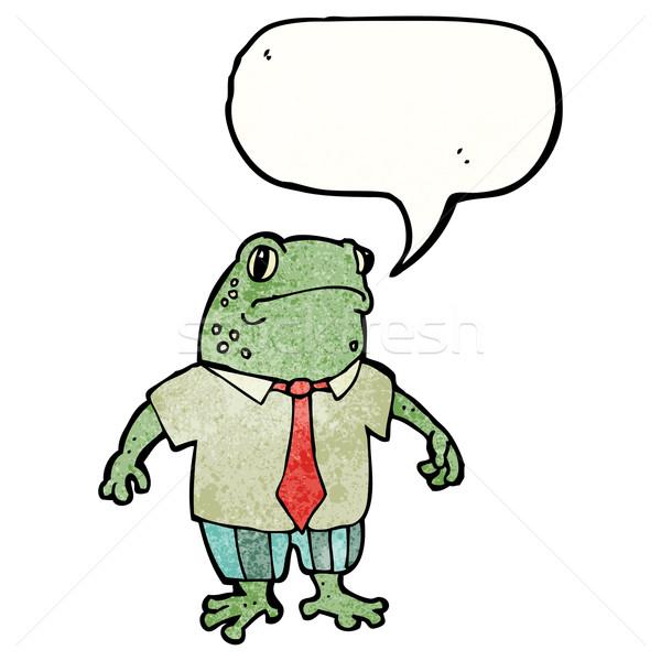 Cartoon rospo fumetto suit parlando retro Foto d'archivio © lineartestpilot
