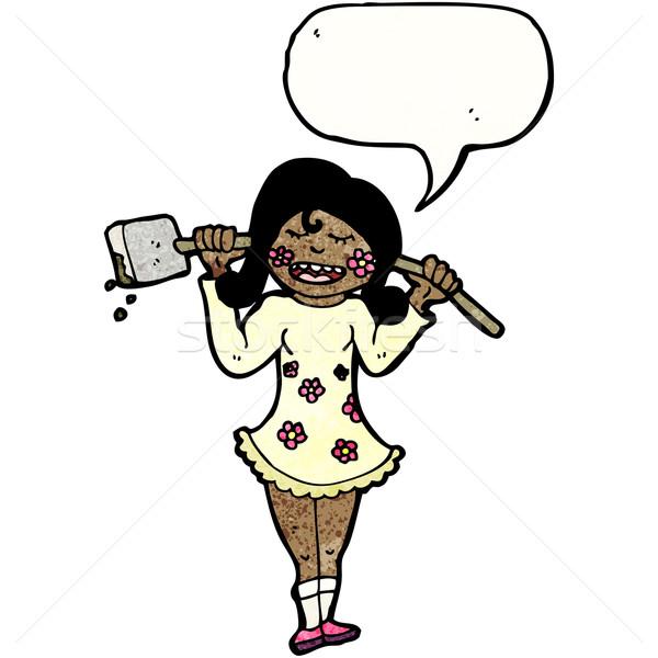 漫画 農家 少女 スペード レトロな 図面 ストックフォト © lineartestpilot