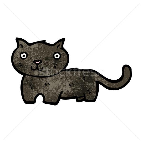 漫画 黒猫 猫 レトロな 図面 かわいい ストックフォト © lineartestpilot