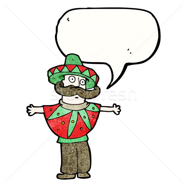 cartoon mexican costume man Stock photo © lineartestpilot