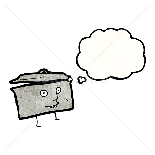 Cartoon rondel retro rysunek pomysł Bańka Zdjęcia stock © lineartestpilot